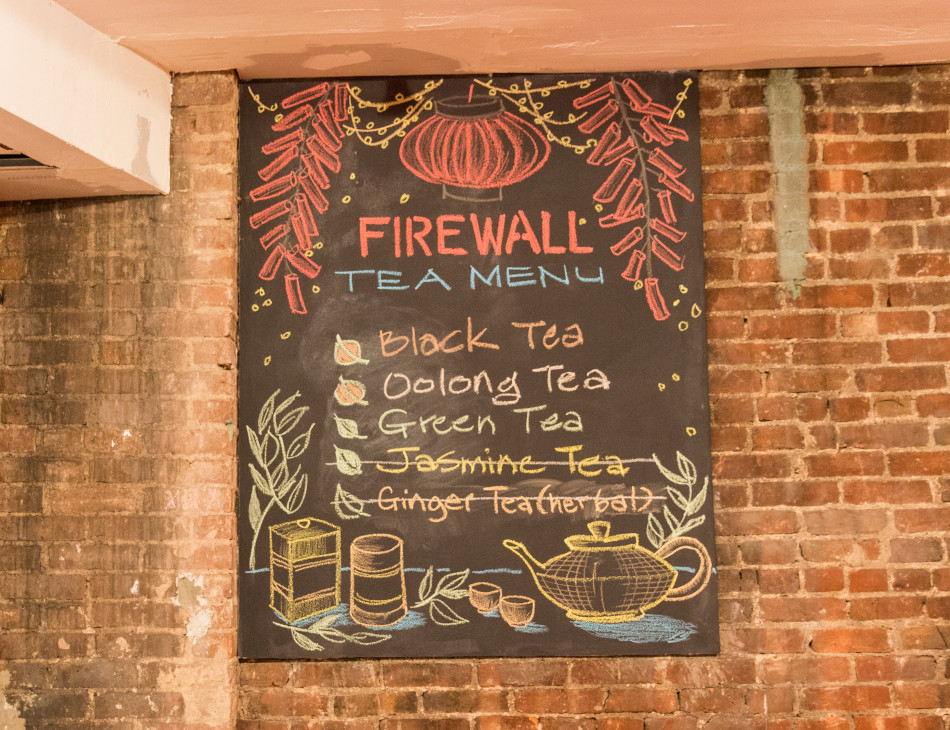 FIREWALL Cafe Tea Menu